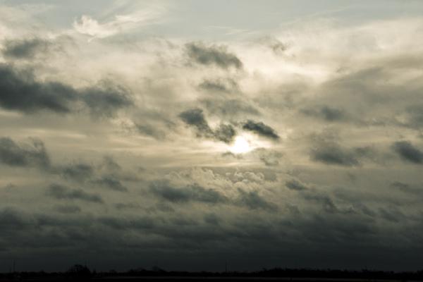 cloudy sky sun