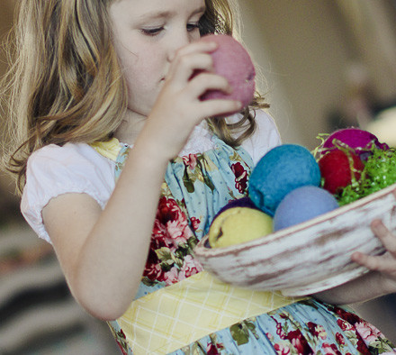 easter eggs girl