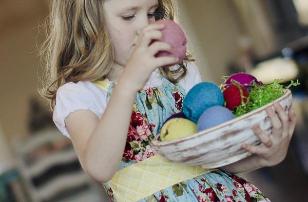easter eggs girl