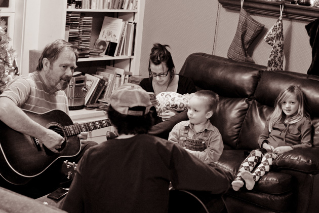 daddy playing guitar