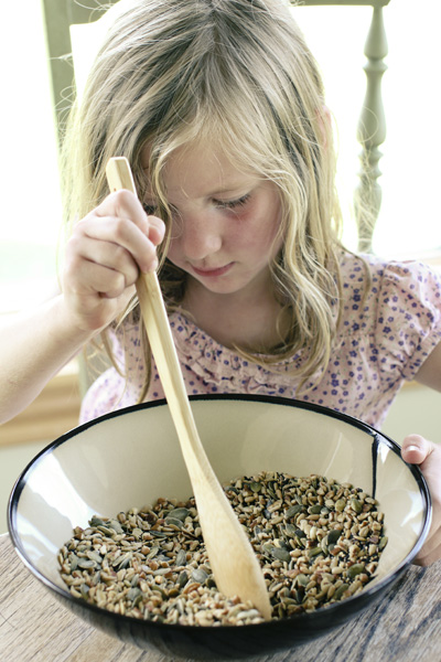 stirring nuts and seeds