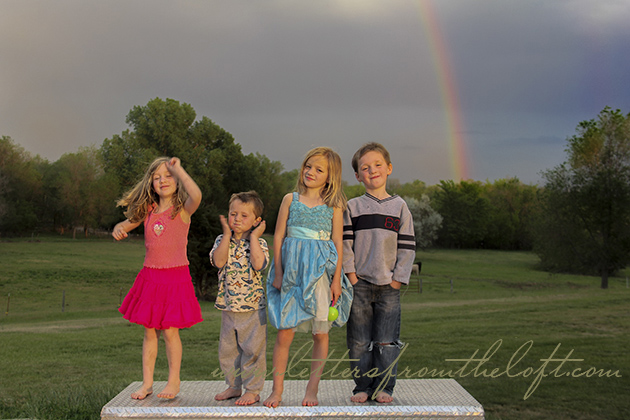10 double rainbow over kids copy