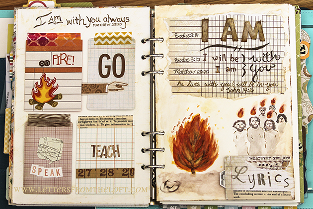 art journal 2 page