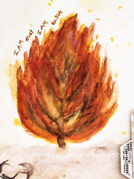 art journal burning bush